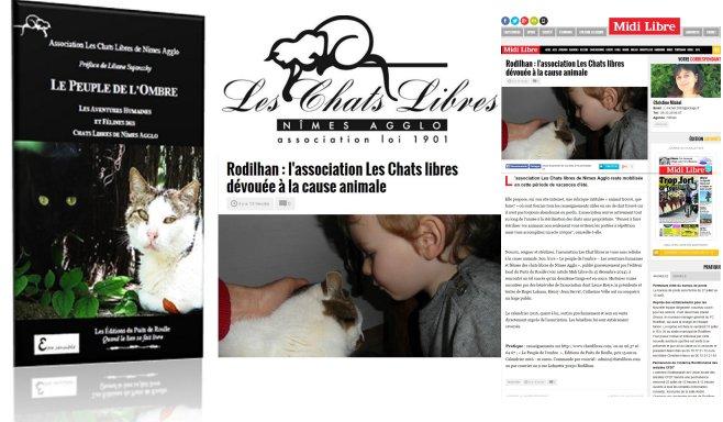 Chats libres de Nîmes Midi Libre Editions du Puits de Roulle