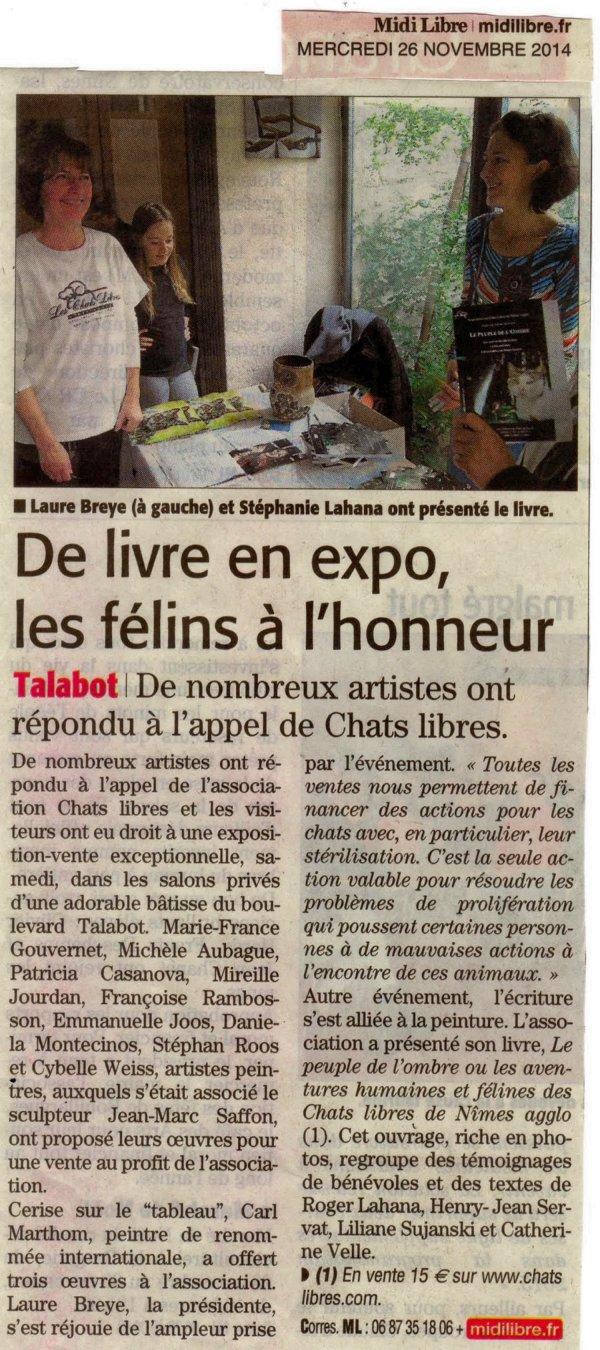 Chats Libres Nîmes Etre sensible Editions du Puits de Roulle