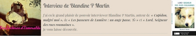 Blandine P. Martin Interview
