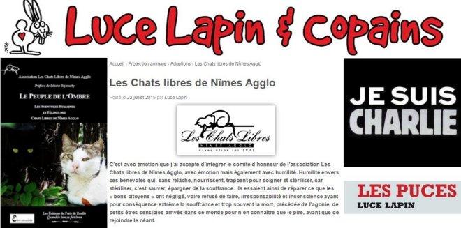 Luce Lapin Chats Libres de Nîmes Editions du Puits de Roulle
