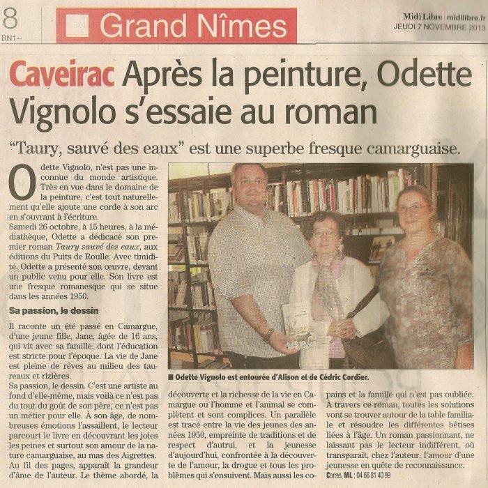 Odette Vignolo Editions du Puits de Roulle